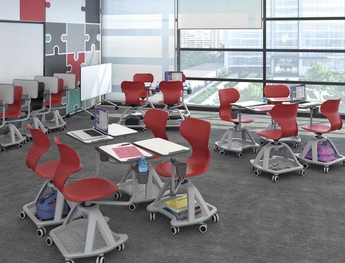 mobilier scolaire chaise mobile avec tablette mila. Black Bedroom Furniture Sets. Home Design Ideas